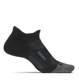 Feetures Feetures Merino 10 Cushion No Show Tab Charcoal