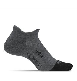 Feetures Feetures Merino 10 Ultra Light No Show Tab Grey