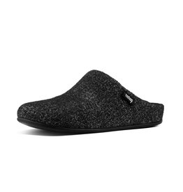 FitFlop FitFlop Womens Chrissie Glimmerwool Slippers Black
