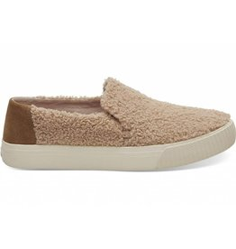 Toms Toms Womens Sunset Slip-Ons Light Brown Faux Shearling