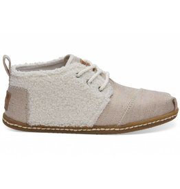 Toms Toms Womens Bota Boots Natural Plush Faux Shearling on Crepe