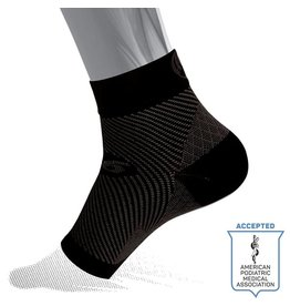 OS1st OS1st FS6 Sports Compression Plantar Fasciitis Foot Sleeve Pair Black