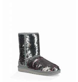 UGG UGG Womens Classic Short Sequin Silver