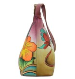 Anuschka Anuschka Medium Zippered Hobo Hawaiian Hibiscus 450-HWH