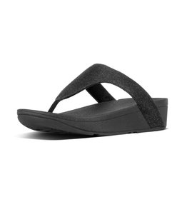 FitFlop FitFlop Womens Lottie Glitzy Toe-Thongs Black