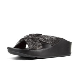 FitFlop FitFlop Womens Twiss Crystal Slide Black