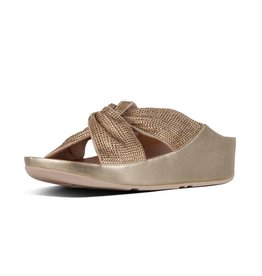 FitFlop FitFlop Womens Twiss Crystal Slide Platino