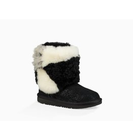 UGG UGG Kids Classic Short Patchwork Fluff Boot Black