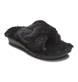 Vionic Vionic Womens Relax Plush Slippers Black