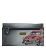 Anuschka Anuschka RFID Blocking Accordion Flap Wallet Vintage Car 1112-VCR