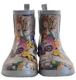 Anuschka Anuschka Womens Ankle Rain Boots  Calaveras de Azucar
