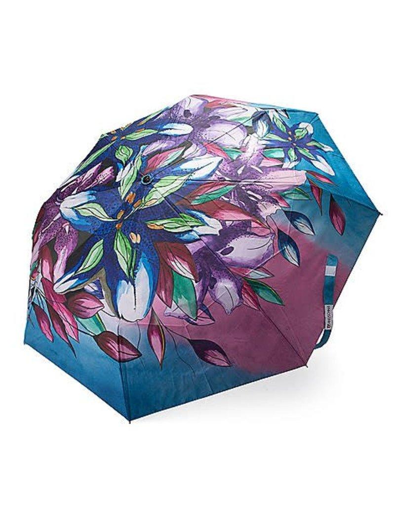 Anuschka Anuschka Umbrella Luscious Lilies Denim 3100-LLY-D