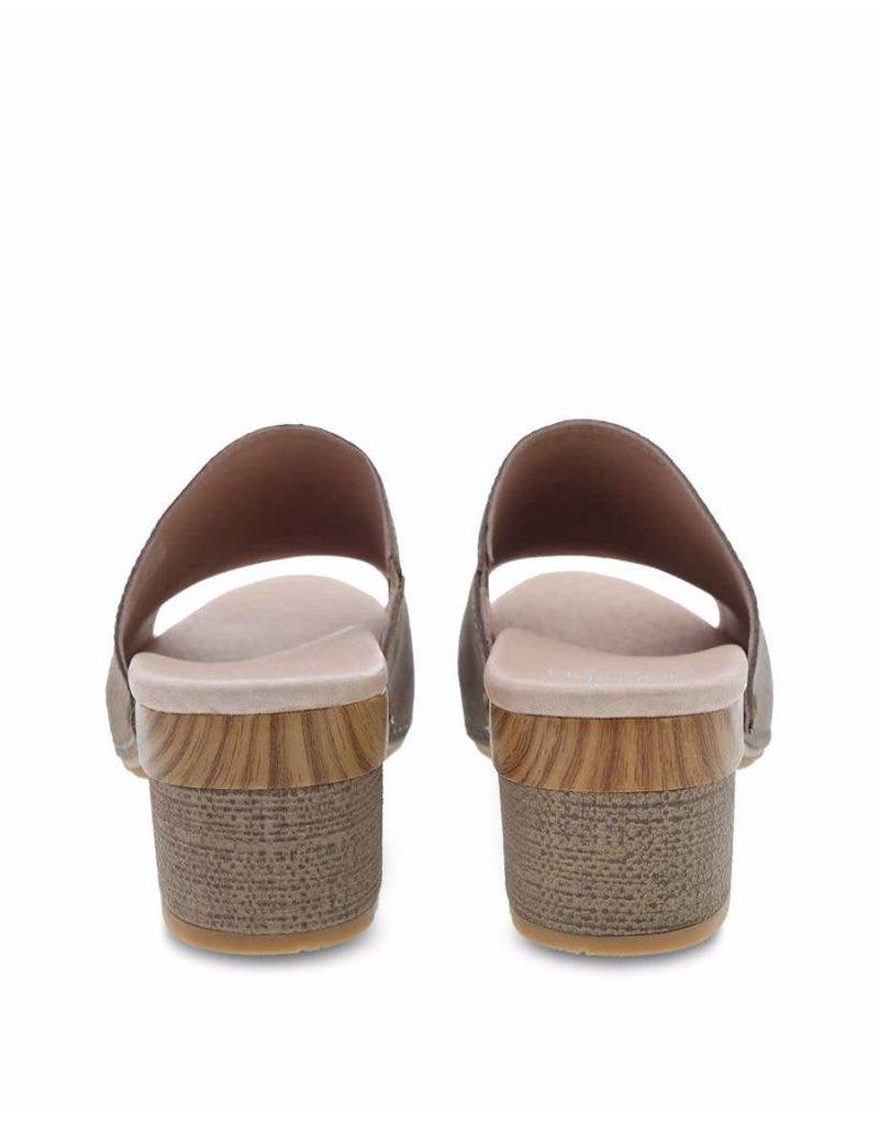 Dansko Dansko Womens Maci Taupe Textured Leather