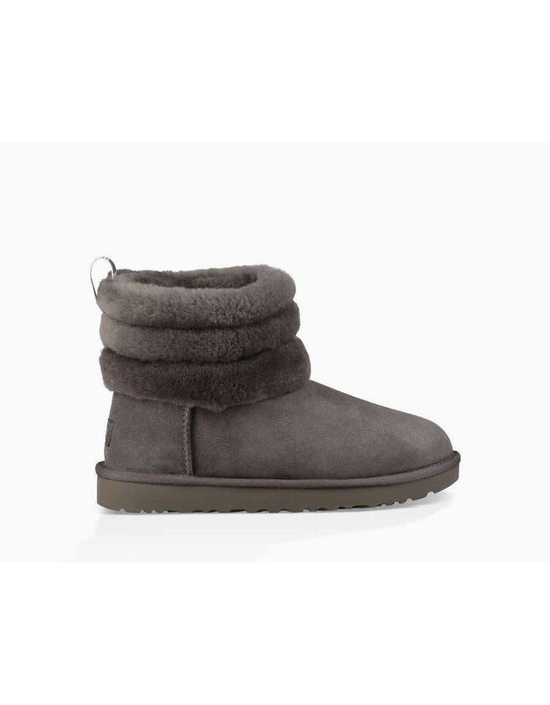 UGG UGG Womens Fluff Mini Quilted Charcoal