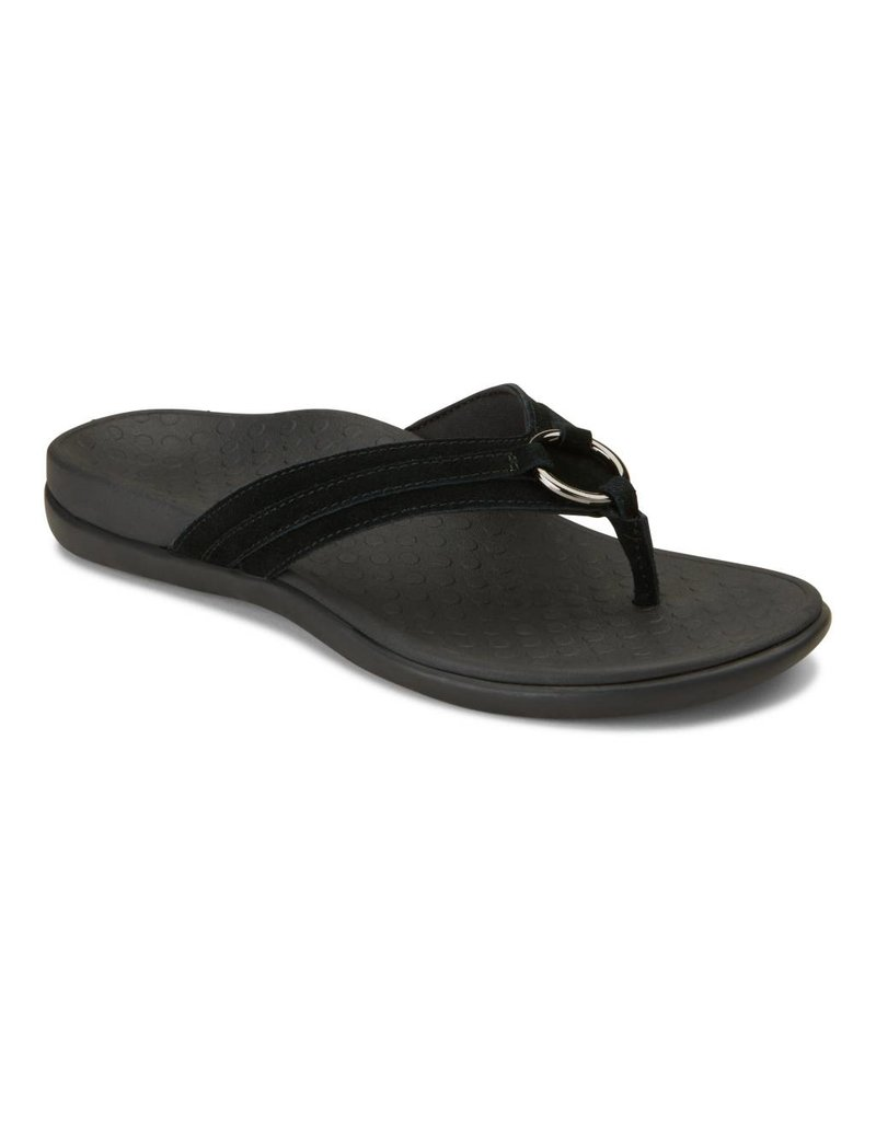 Vionic Vionic Womens Tide Aloe Toe Post Sandal Black
