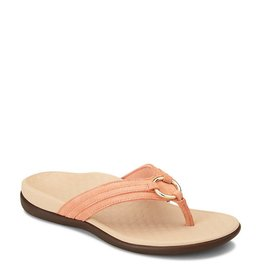Vionic Vionic Womens Tide Aloe Toe Post Sandal Salmon