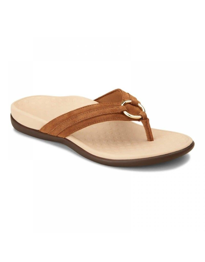 Vionic Vionic Womens Tide Aloe Toe Post Sandal Toffee