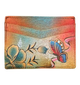 Anuschka Anuschka Credit Card Case Premium Hibiscus Antique 1032-PHA