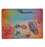 Anuschka Anuschka Credit Card Case Premium Hibiscus Antique 1032-PHA