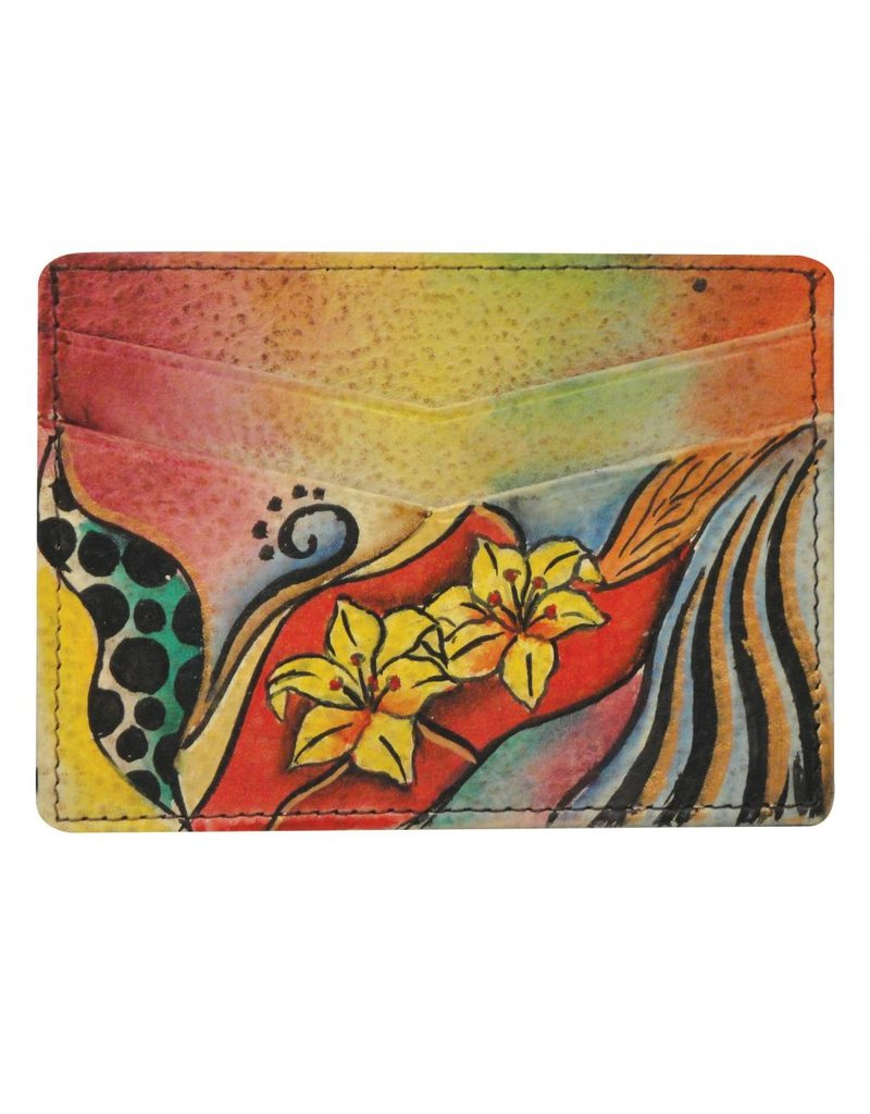 Anuschka Anuschka Credit Card Case Tribal Lily 1032-TRL
