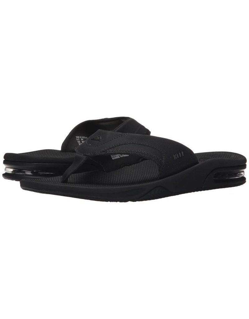 bcf65e2ff Reef Mens Fanning All Black - Island Comfort Footwear