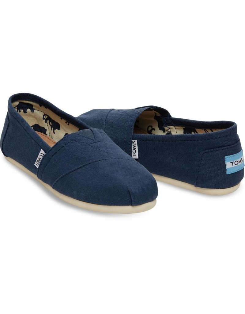 03659bb1ea1 Toms Womens Classic Navy Canvas - Island Comfort Footwear