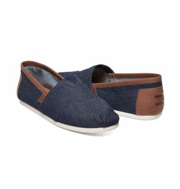 Toms Toms Mens Classic Dark Denim With Synthetic Leather Trim