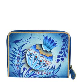 Anuschka Anuschka Zip Around Credit Card Case Bewitching Blues 1124-BWB