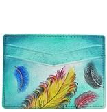Anuschka Anuschka Credit Card Case Floating Feathers 1032-FFT