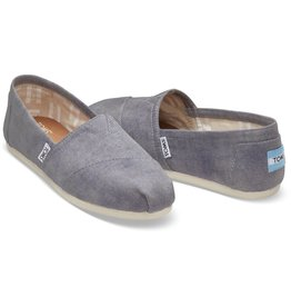 Toms Toms Womens Classic Slate Blue Washed Twill