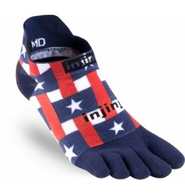 Injinji Injinji Run 2.0 Lightweight No Show Stars & Stripes