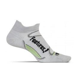 Feetures Feetures Elite Merino+ Ultra Light No Show Tab Silver Black