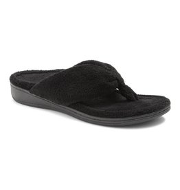 Vionic Vionic Womens Gracie Toe Post Slipper Black