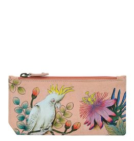 Anuschka Anuschka RFID Blocking Card Case With Coin Pouch Cockatoo Sunrise 1140-CKT