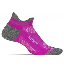 Feetures Feetures Elite Light Cushion No Show Tab Fuschia Pop