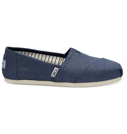 Toms Toms Womens Classic Majolica Blue Heritage Canvas