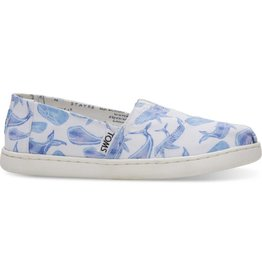 Toms Toms Youth Multi Watercolor Whale Canvas