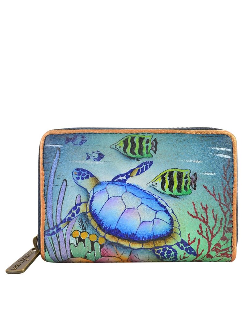 Anuschka Anuschka Credit And Business Card Holder Ocean Treasures 1110-OCT
