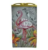 Anuschka Anuschka Double Eyeglass Case Flamboyant Flamingos 1009-FFG