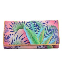 Anuschka Anuschka RFID Blocking Accordion Flap Wallet Tropical Island 1112-TRI