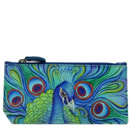 Anuschka Anuschka RFID Blocking Card Case With Coin Pouch Jeweled Plume 1140-JPL