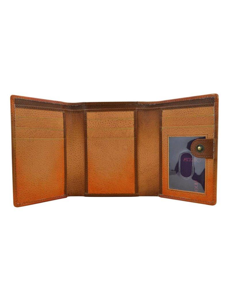 Anuschka Anuschka RFID Blocking Small Flap French Wallet Flying Jewels Tan 1138-FLJ-TAN