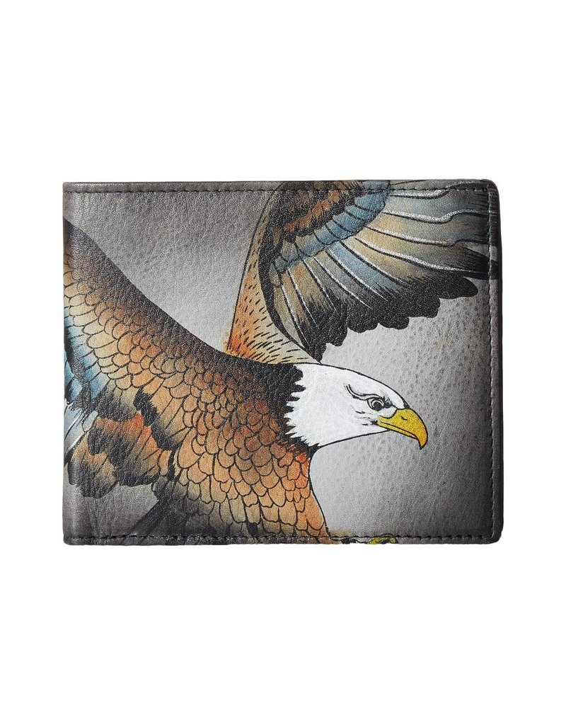 Anuschka Anuschka RFID Blocking Two Fold Men's Wallet American Eagle 3003-AME