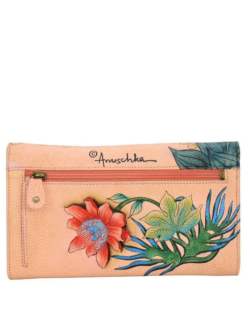 Anuschka Anuschka Checkbook Wallet Clutch Cockatoo Sunrise 1042-CKT