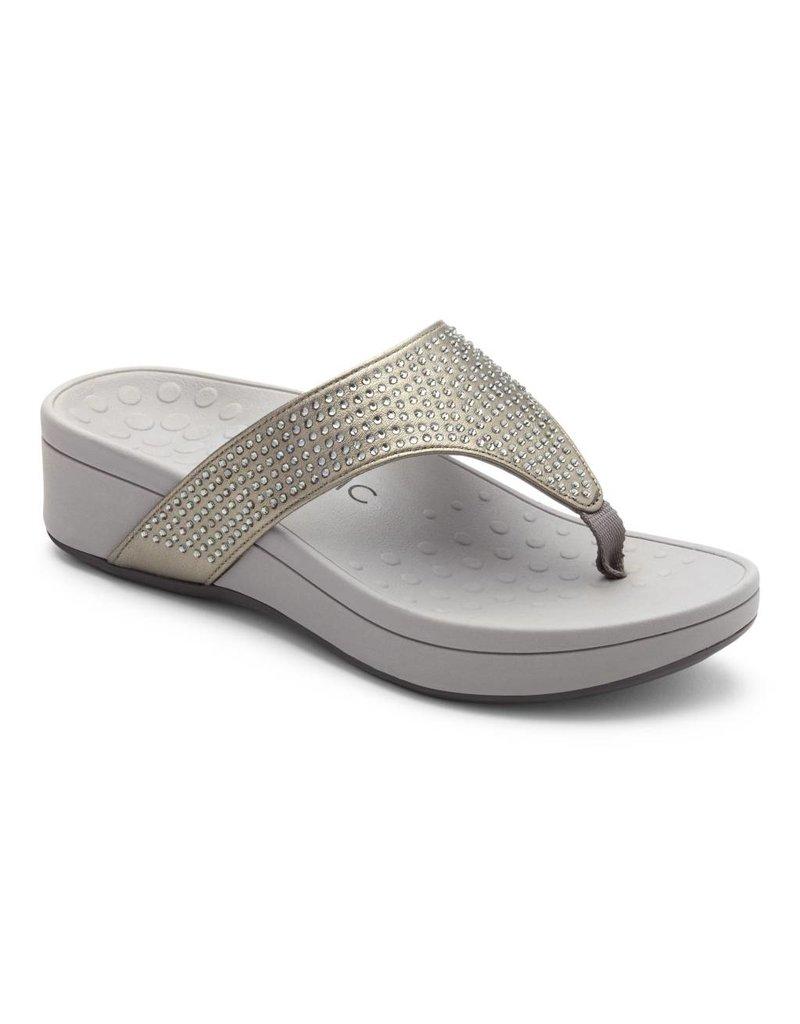 3537d6dbe72c Vionic Womens Naples Platform Sandal Pewter - Island Comfort Footwear