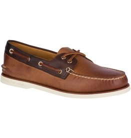 Sperry Sperry Mens Gold A/O 2-Eye Roustabout Tan Brown