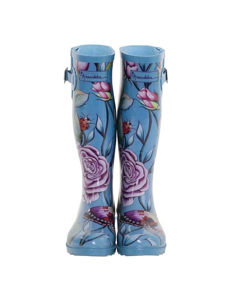 Anuschka Anuschka Womens Rain Boots Roses Da'mour 3200-RDM