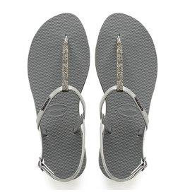 Havaianas Havaianas Womens You Riviera Crystal Sandal Steel Grey