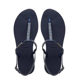 Havaianas Havaianas Womens You Riviera Crystal Sandal Navy Blue