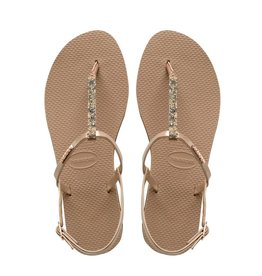 Havaianas Havaianas Womens You Riviera Crystal Sandal Rose Gold